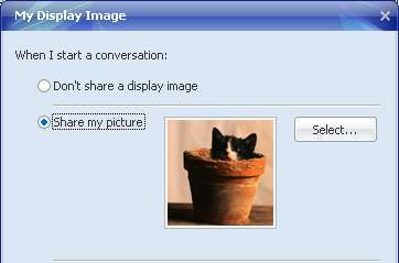 Display Image on Yahoo Messenger 2