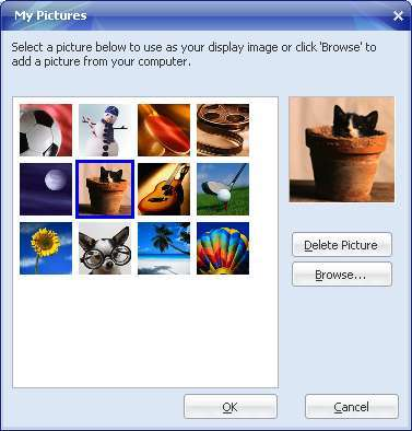Display Image on Yahoo Messenger 3