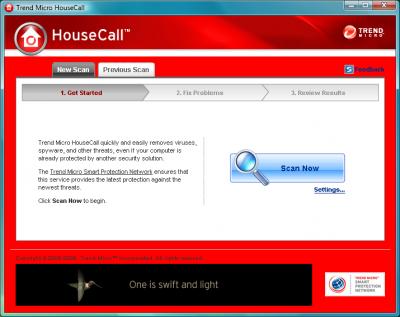 HouseCall Trend Micro Online Virus Scanner