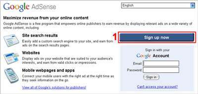 1 create adsense account