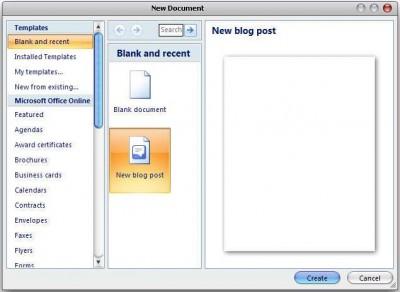Blog Posting Using Microsoft Word 1