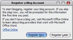 Blog Posting Using Microsoft Word