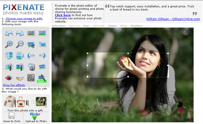 pixenate is free online photo editing software you can use this online