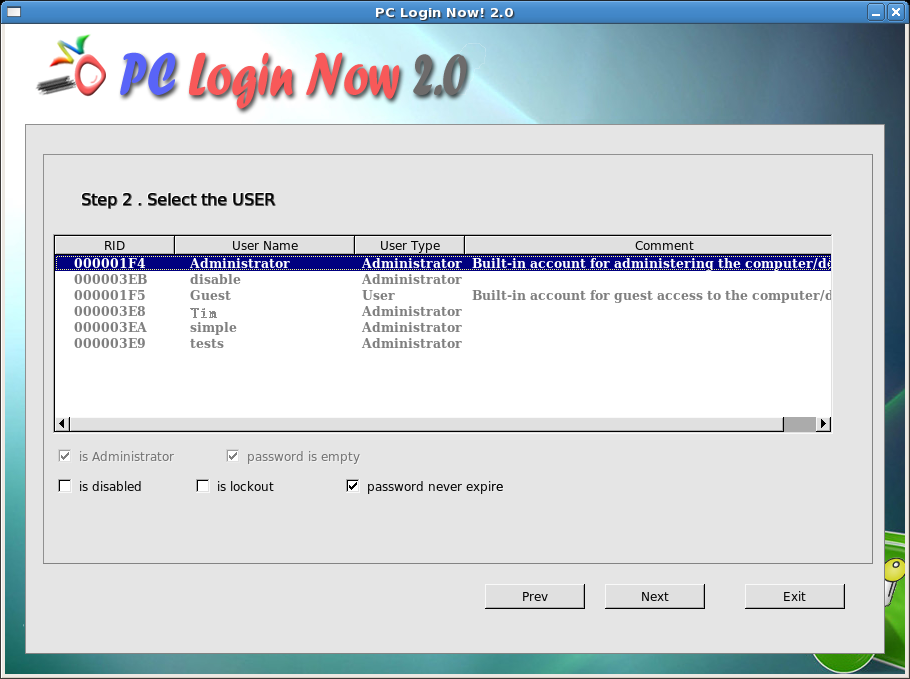how to add admin password to windows server 2003