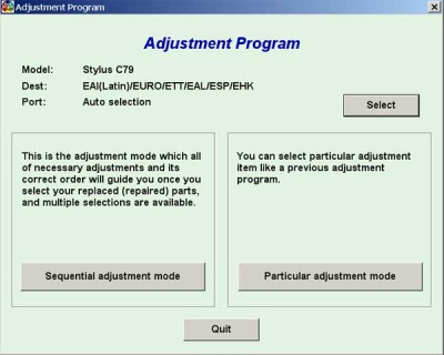 Adjustmenr Program Epson C79