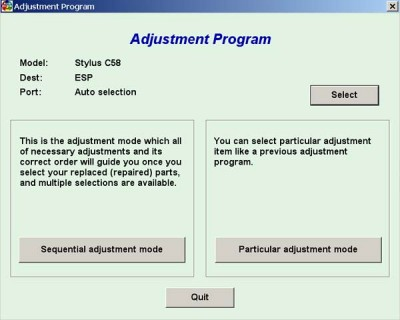 Adjustment Program Epson C58