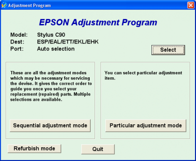 Adjustment Program Epson C90