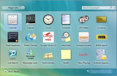 Windows Vista Sidebar