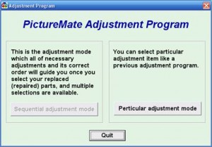 Adjustment Program for Epson PictureMate printer