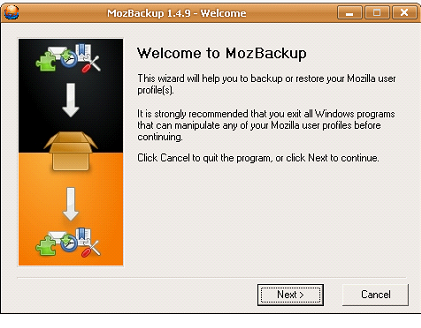 Follow these steps to Backup Firefox setting: