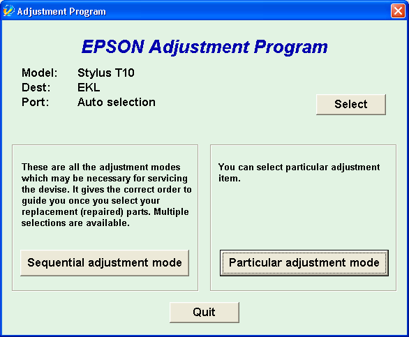 ... Adjustment Program Epson T10 Download Adjustment Program Epson TX100