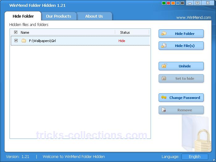WinMend Folder Hidden 1.5.1 безошибочно скрыть файлы и каталоги на пк