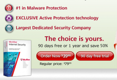 McAfee Internet Security 2012 Trial 90 Days