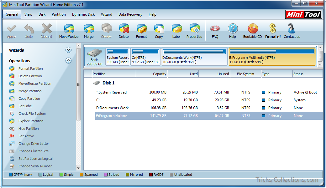 Partition Wizard Home Edition – Free Partition Manager