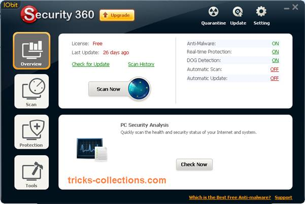 Free Download IObit Security 360 Pro with 1 Year License Code