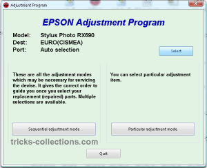 adjustment program epson RX690 1