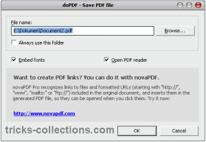 dopDF create PDF file 2