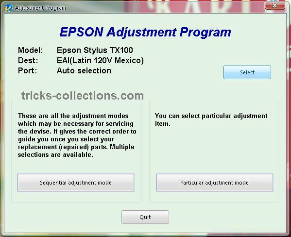 epson tx 105 software