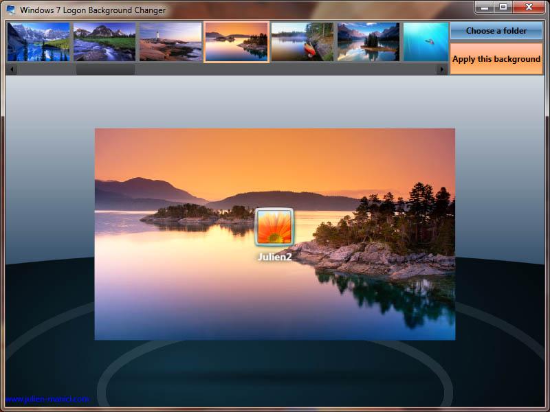 windows 7 logon background changer customize windows 7