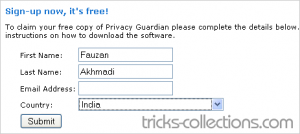 PC-Tools-Privacy-Guardian-sign-up-form