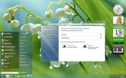 Windows 7 Clear Glass Theme