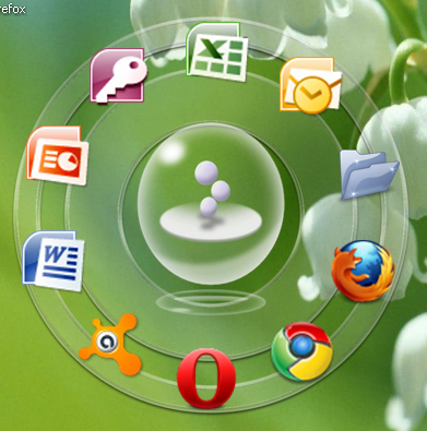 Windows 7 Circle Dock Bar