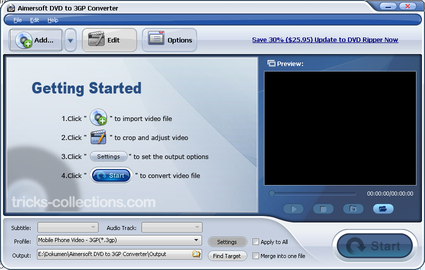 How to Convert 3GP to MP4 on Windows