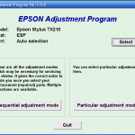 Adjustment Program or Resetter Epson TX210 Printer