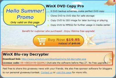 WinX Blu-ray Decrypter License Code