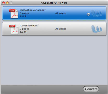 AnyBizSoft PDF to Word for Mac full version