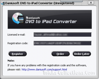 Daniusoft DVD to iPad Converter license key