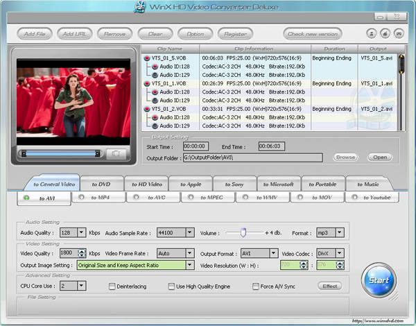 video converter code: