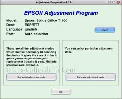 Epson T1100 Resetter