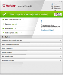 McAfee Internet Security Home