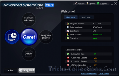 Advanced SystemCare PRO v.3.7.0 Pro