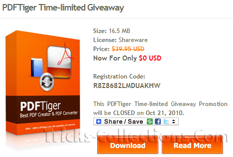 PDFTiger Time-limited Giveaway