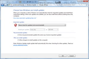 Windows 7 Automatic Update  3
