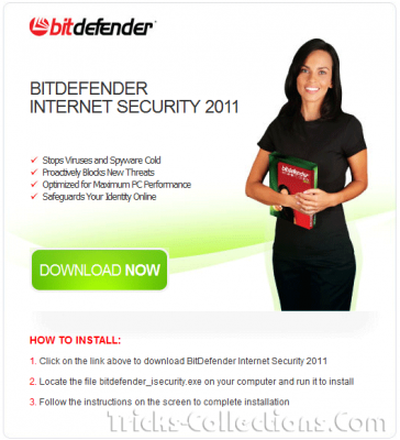 Bitdefender Internet Security 2011 with 3 months subscribtion