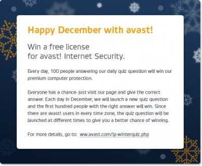 Avast Happy December Promo
