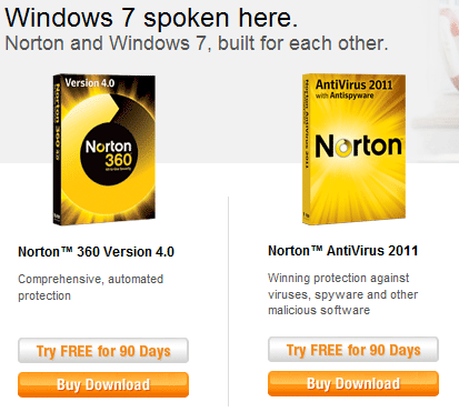 Download Norton Antivirus day free trial