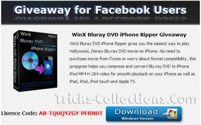 WinX Bluray DVD iPhone Ripper giveaway
