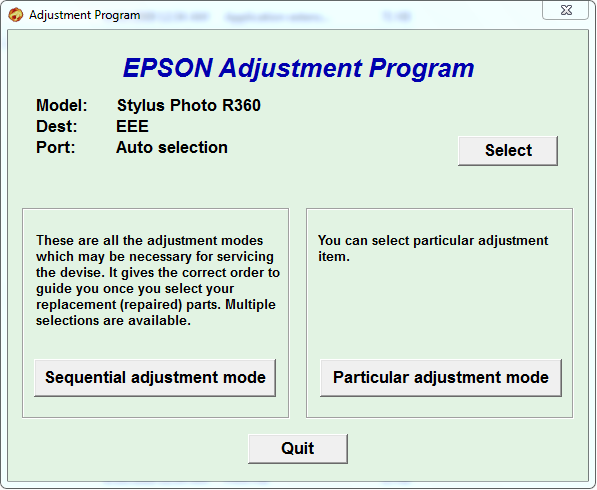 epson stylus photo r230 adjustment program free download