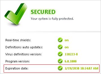 Avast License Key Active Until 2038 - Avast v5.0.418 + Licencia 2038 [FS]