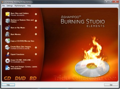 Ashampoo Burning Studio Elements 10