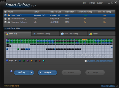 iObit Smart Defrag 2-Free defragment software