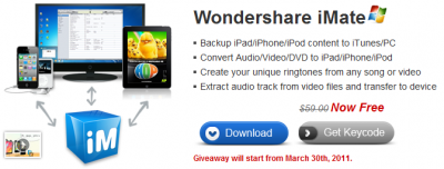 wondershare iMate promo license
