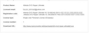 4Media DVD Ripper Ultimate Serial License Key