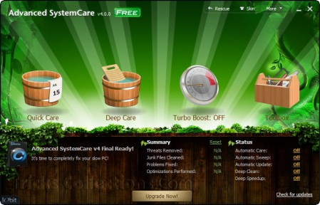 Advaced System Care 4 with Wood Skin