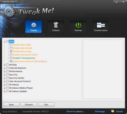 Tweak Me Free Windows Tweaker