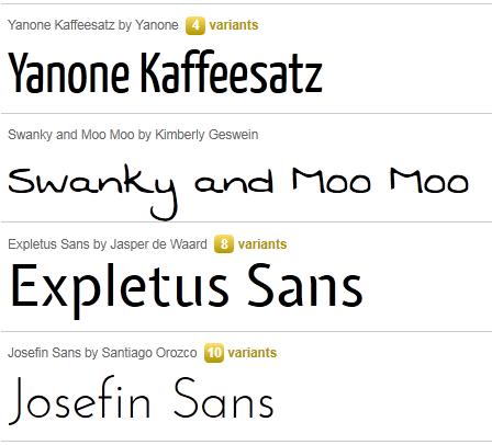 Add non standard font using google web fonts